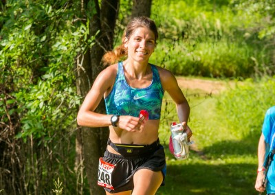 2017 50K Winner Jayna Tomalty Coming in Strong - Photo Credit Mike Wheeler