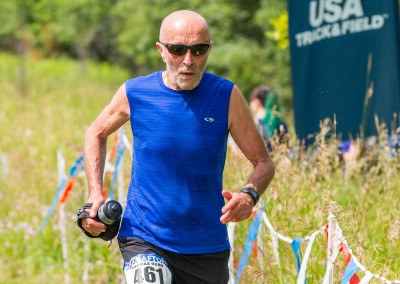 Afton Royalty Tom Burr Finishes the 25K at 71 - Photo Credit Mike Wheeler