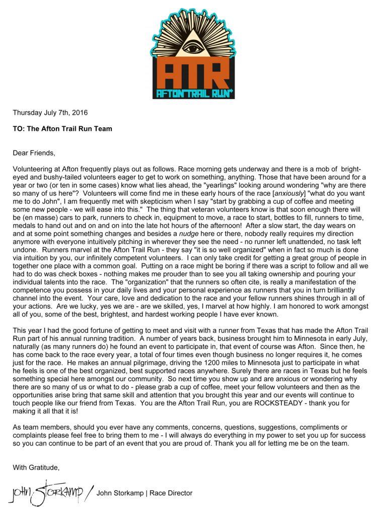 AID STATION VOLUNTEERS (PLEASE READ THIS):