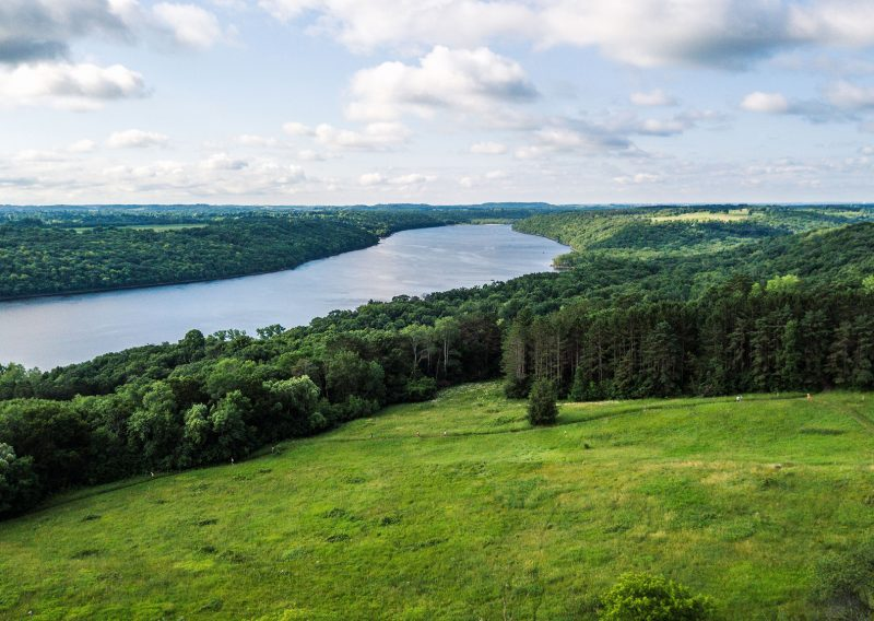 Afton and the St Croix River from Above - Photo Credit Fresh Tracks Media