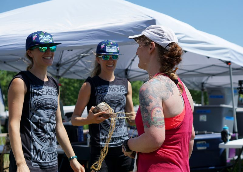 Greeted at the ATR Finish Line - Photo Credit Jamison Swift