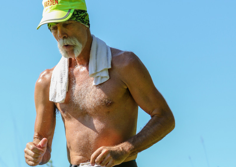 Jerry Heaps Working on a Hot Day at Afton - Photo Credit Paul Nye