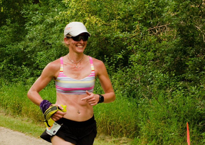 Kami Sledgers-Nicholls Runs with a Smile - Photo Credit Todd Rowe