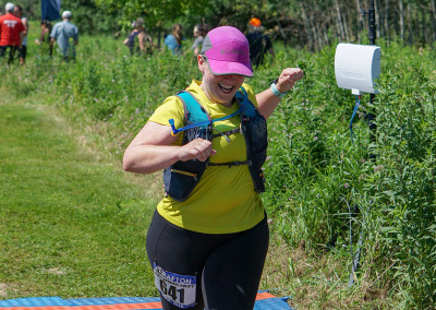 Lisa Kapsner-Swift Finishing the 25K - Photo Credit Jamison Swift