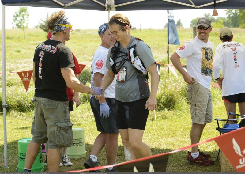 RD John Storkamp Congratulates Anjanette Arnold - Photo Credit Dean Neuburger