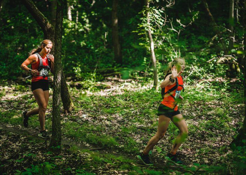 Running Single Track with My Buddy - Photo Credit Fresh Tracks Media