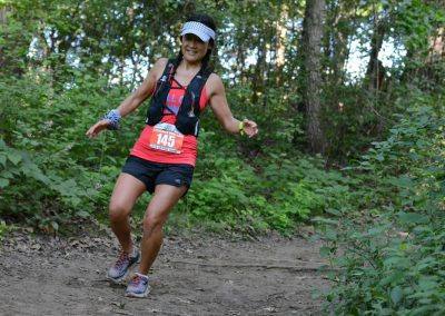 Stephanie Going Downhill - Photo Credit John Stewart.