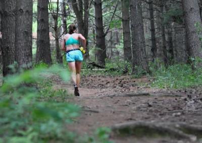 Womens Winner Melissa Jansen in the Pines - Photo Credit Francois Lyon